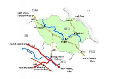 Landkreis Regen. Foto: LRA Rgen