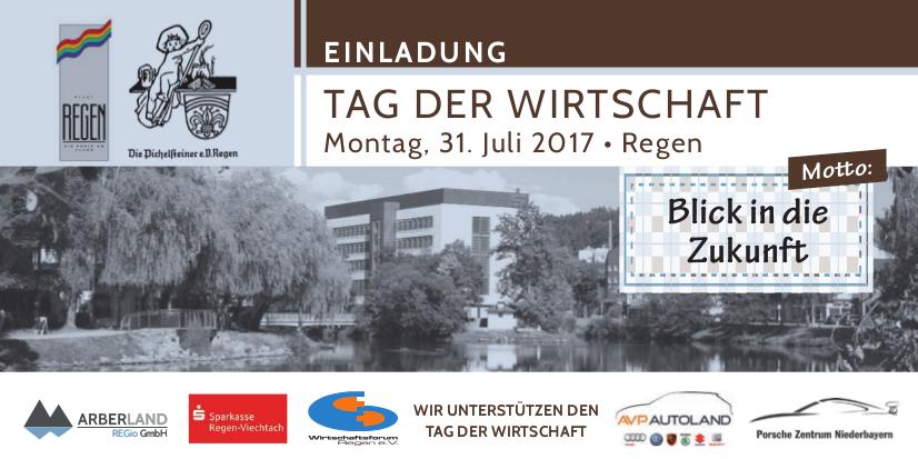 Einladung Tag der Wirtschaft - 143. Pichelsteinerfest Regen